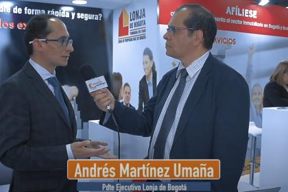 Presidente de la Lonja de Bogotá habla del Gran Salón Inmobiliario